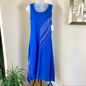 NEIMAN MARCUS Linen Dress Handkerchief Sleeveless